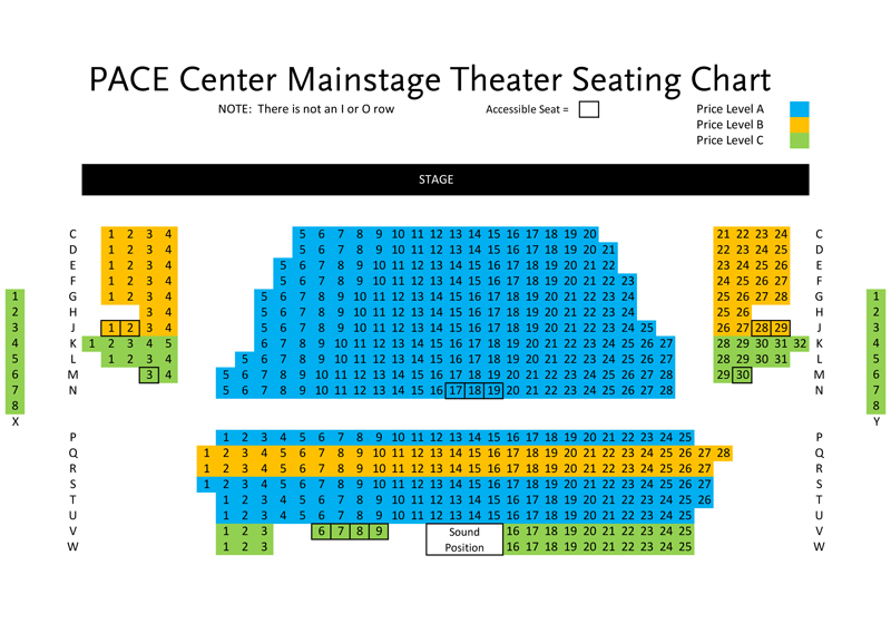 Pace Center Seating Chart